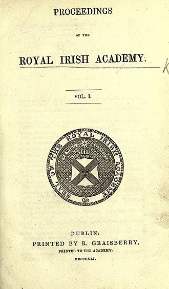 Proceedings of the Royal Irish Academy - Image: Proceedings of the Royal Irish Academy BHL2425201