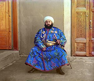 Manghud - Alim Khan, the last Manghit khan in Bukhara, 1911.