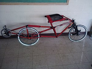 Prone bicycle - Prone bicycle built by students at MSOE