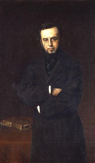 Demetrius Vikelas - A portrait of Vikelas by Nikolaos Xydias Typaldos.