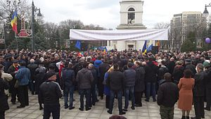 2015–16 protests in Moldova - Demonstration in Chișinău, 5 April