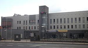 AZS PWSZ Biała Podlaska - The AZS PSW women's soccer club is composed of student athletes of the Państwowa Szkoła Wyższa im. Papieża Jana Pawła II, pictured