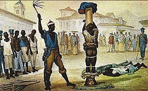 Racism in Brazil - Public flagellation of a slave