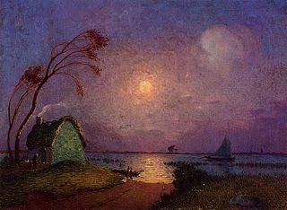 Cottage in the Moonlight in Brière