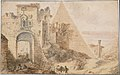 Pyramid of Cestius and the Porta San Paolo, Rome MET DT10002.jpg