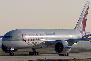 English: The first Qatar Airways Cargo Boeing ...