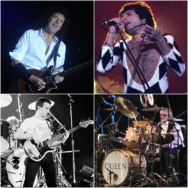 Brian May, Freddie Mercury, John Deacon und Roger Taylor