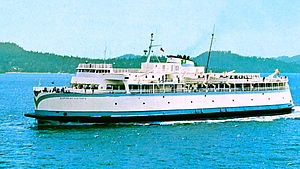 V-class ferry - Queen of Victoria in 1964, showing how the V-class ferries looked as built