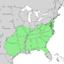 Quercus stellata range map 1.png