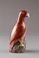 Röd papegoja gjord i Kina i mitten av 1700-talet för export - Hallwylska museet - 95435.tif