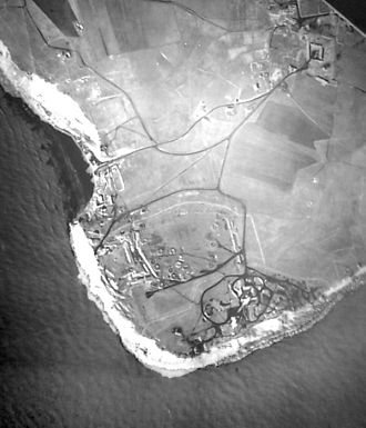 Operation Undergo - Aerial photo of Cap Gris Nez, taken by the RAF before bombing