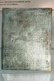 Древнеримский военный диплом Википедия Древнеримский военный диплом