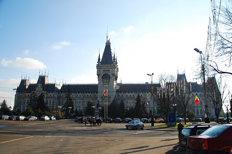 The Palace of Culture, Iasi, Moldavia, Romania.