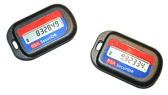 One-time password - RSA SecurID security tokens.
