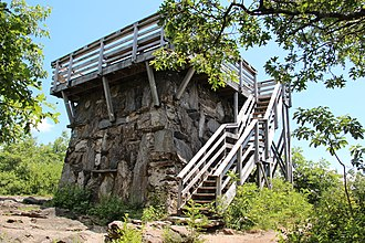 Rabun Bald - Image: Rabun Bald Fire Tower, July 2016