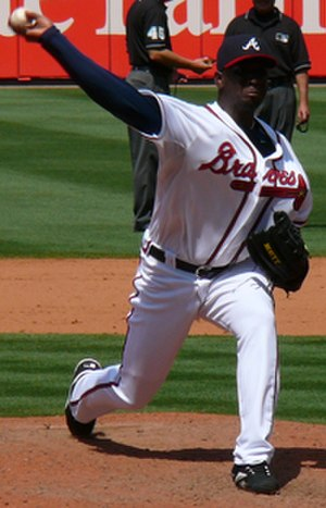 Rafael Soriano - Soriano pitching for the Braves in May 2007