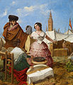 Rafael Benjumea Courting at a Ring-Shaped Pastry Stall at the Seville Fair 1852.jpg