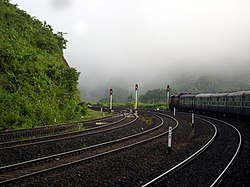 View at Laxmipur Road railway station, Koraput district