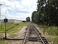 Railroad at Nashville Mills Road heading south.JPG