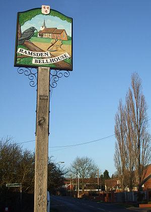 Ramsden Bellhouse - Image: Ramsden Bellhouse sign