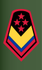 Rank insignia of sargento mayor de comando of the Colombian Army.svg