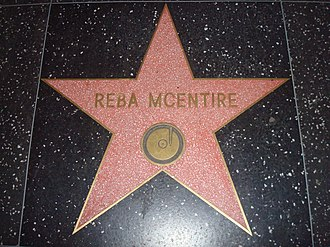 Reba McEntire - McEntire's star on the Hollywood Walk of Fame