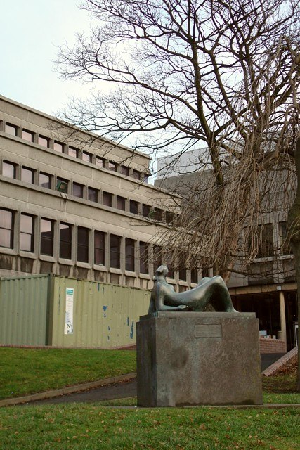 Reclining figure, Castleford Civic Centre - geograph.org.uk - 643586