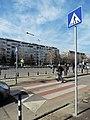 Red and white zebra crossing in Sofia - 1.jpg