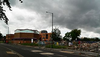 Teesville - Redcar and Cleveland Town Hall during demolition in 2012