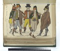 Reg-t de Barcelone - 1. Barbier; 2. Domestique; 3. Soldat; 4, 5. Reg-t de Catalogne. (1806) (NYPL b14896507-87914).tiff