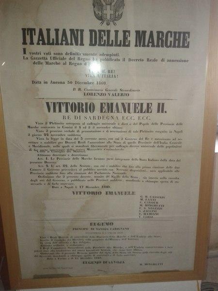 File:Regno di Sardegna - Regio decreto di annessione delle Marche al Regno d'Italia - 17 dicembre 1860- Vittorio Emanuele II.djvu