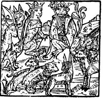 Reynard - Illustration from Ghetelen in Reinke de Vos (1498)