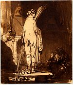 Rembrandt The Artist Drawing from the Model.jpg