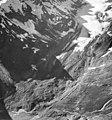 Rendu Glacier, hanging glaciers and icefall, rock covered terminus of mountain glacier, circa 1964 (GLACIERS 5811).jpg