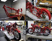 An R60/2 undergoing a frame-up concours restoration