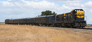 Victorian Railways S type carriage - A train of restored S type carriages in the original Victorian Railways livery