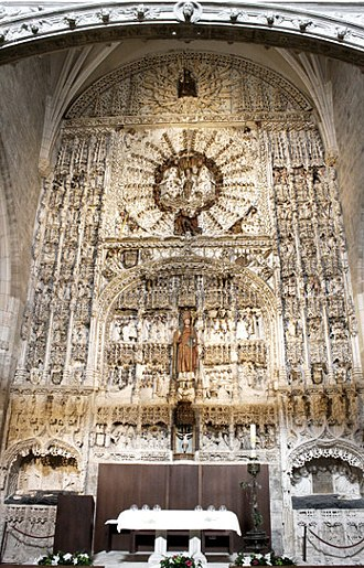 San Nicolás de Bari, Burgos - Main Altarpiece of the Church and the tombs of Don Gonzalo and Don Alfonso Polanco