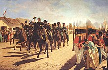 Portrait of a parade of the Army of the Andes