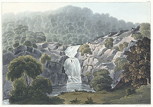 Afon Mawddach - Waterfall on the river Mawddach, 1816