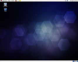 Screenshot van Red Hat Enterprise Linux 6 (bètaversie)