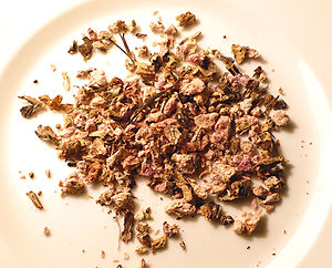 Organic dried Rhodiola rosea root. Photo taken...