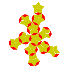 Rhombic enneacontahedron flat.png