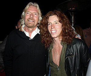 Shaun White - White with Richard Branson in 2009