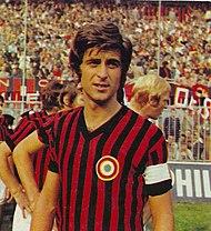 Gianni Rivera, capitano del Milan per 12 stagioni e Pallone d'oro 1969