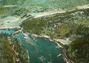 Rivière gatineau près de farrellton , vers 1930
