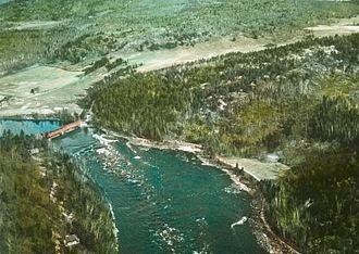 Gatineau River - Gatineau River near Farrellton, circa 1930