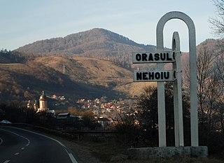Nehoiu Town in Buzău, Romania
