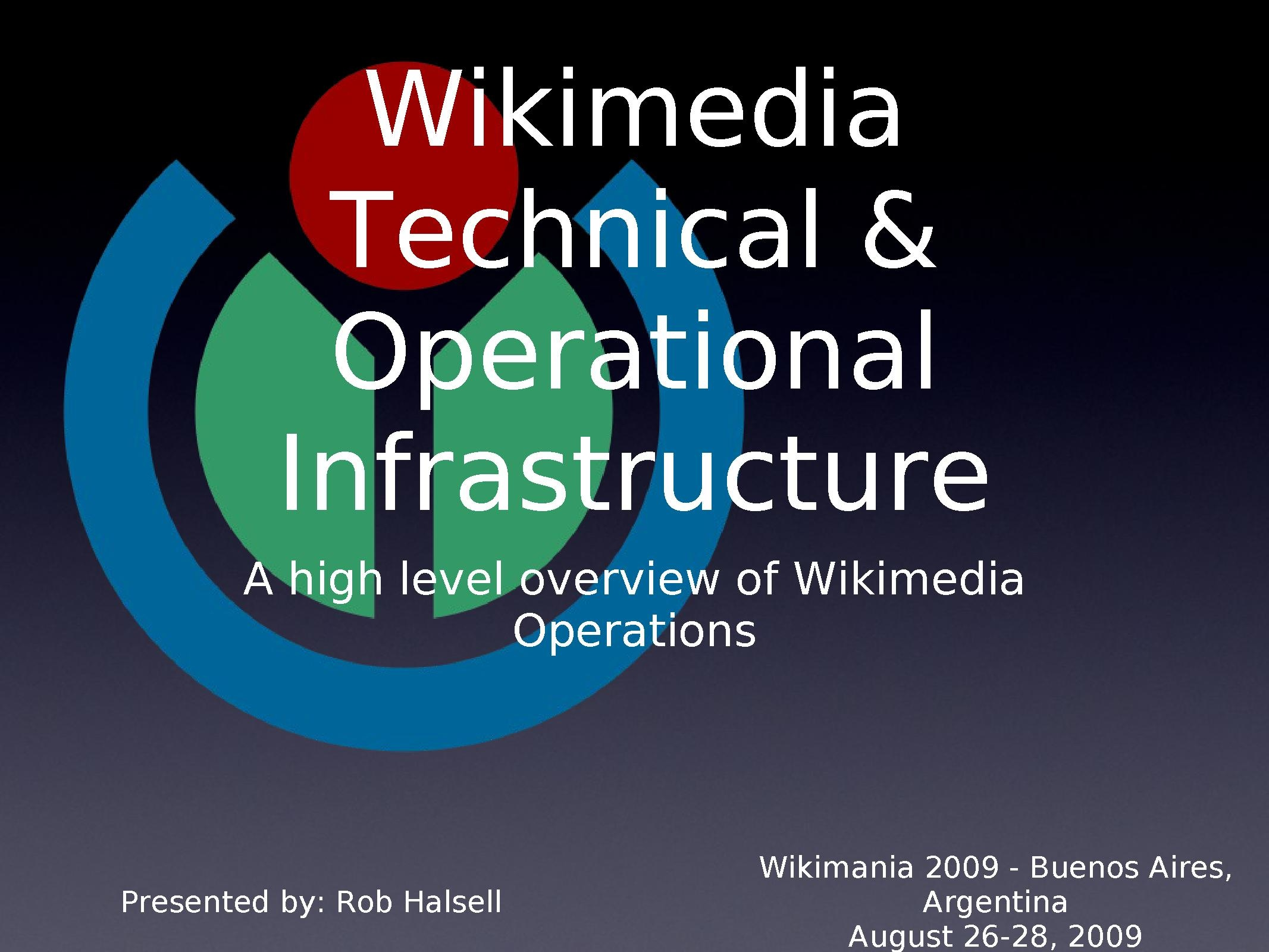 Rob Halsell - Wikimania 2009 - Wikimedia Operations & Technical Overview.pdf