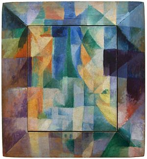 Cubism - Robert Delaunay, Simultaneous Windows on the City, 1912, 46 x 40 cm, Hamburger Kunsthalle, an example of Abstract Cubism