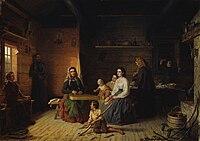 Robert Wilhelm Ekman - Kreeta Haapasalo Playing the Kantele in a Peasant Cottage.jpg